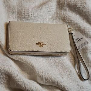 NWT Coach Phone Wallet  White